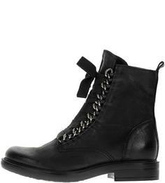 Высокие кожаные ботинки с металлическим декором Mjus
