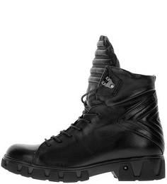 Кожаные демисезонные ботинки на шнуровке Mjus