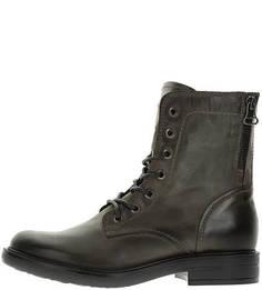 Высокие демисезонные ботинки на шнуровке Mjus