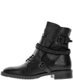 Высокие демисезонные ботинки черного цвета Mjus