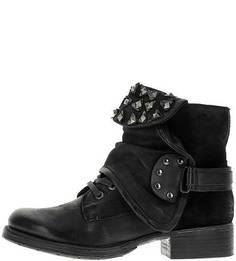 Кожаные демисезонные ботинки с металлическим декором Mjus