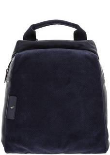 Рюкзак из натуральной кожи и замши среднего размера Mandarina Duck