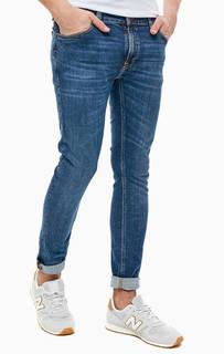 Синие джинсы скинни с застежкой на молнию и болт Skinny Lin Nudie Jeans