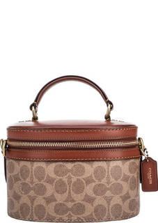 Маленькая коричневая сумка через плечо Coach