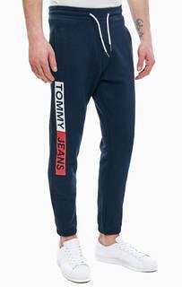 Хлопковые брюки джоггеры с логотипом бренда Tommy Jeans