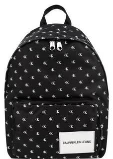 Текстильный рюкзак с монограммой бренда Calvin Klein