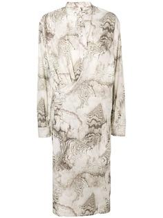 Lemaire платье-миди с воротником-стойкой