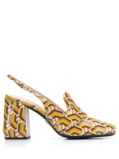 Prada туфли-лодочки с принтом шеврон