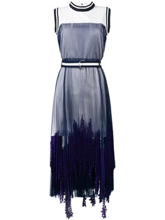Sacai плиссированное платье макси