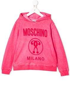 Moschino Kids толстовка с капюшоном и логотипом