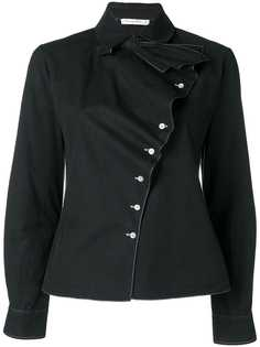 Christian Dior Vintage рубашка со смещенной застежкой на пуговицах