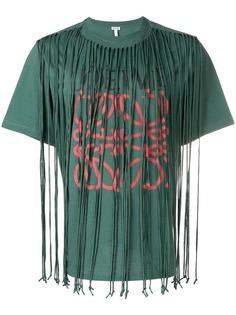 Loewe anagram fringed T-shirt