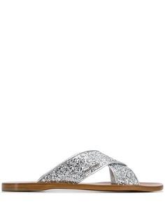 Miu Miu glitter flat sandals