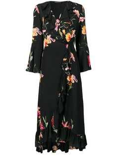 Etro платье с запахом и цветочным принтом