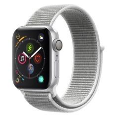 Смарт-часы APPLE Watch Series 4 40мм, серебристый / белый [mu652/a]