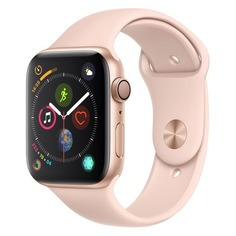 Смарт-часы APPLE Watch Series 4 40мм, золотистый / розовый [mu682/a]