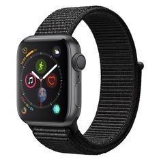 Смарт-часы APPLE Watch Series 4 44мм, темно-серый / черный [mu6e2/a]