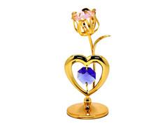 Фигурка Crystocraft Тюльпан с сердцем 175-001-GМХ