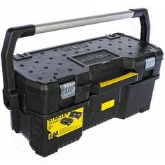 Открытый профессиональный пластмассовый ящик для инструмента со съемным кейсом stanley 1-97-506