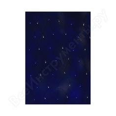 Гирлянда neon-night сеть 2.5х2.5м, черный пвх, 432led белые/синие 215-032