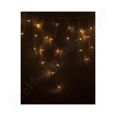 Гирлянда neon-night айсикл бахрома, 4.8х0.6м, белый пвх, 176 led тепло-белые 255-138