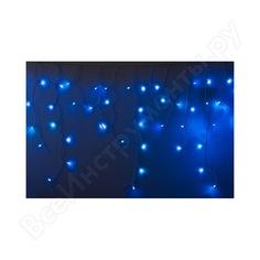 Гирлянда neon-night айсикл бахрома, 4.8х0.6м, белый пвх, 152 led синие 255-136-6