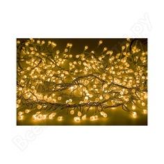 Гирлянда neon-night мишура 3м, прозрачный пвх, 288 led желтые 303-601
