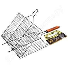 Большая решетка-гриль с антипригарным покрытием boyscout + картонный веер 61312