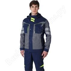 Укороченная мужская куртка факел profline specialist серый/темно-синий, размер 56-58, рост 182-188 87468810.008