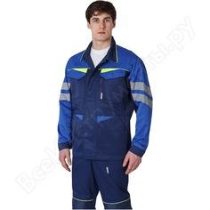Мужская удлиненная куртка факел profline base темно-синий/васильковый, р. 44-46, рост 182-188 87468764.002