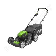 Самоходная аккумуляторная бесщеточная газонокосилка greenworks 2501007
