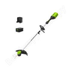 Аккумуляторный триммер greenworks gd60ltk2 2103207ua
