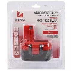 Аккумулятор для шуруповертов бош (14.4в, 2.0ач, nicd) в блистере нкб 1420 бш-a заряд 6117110