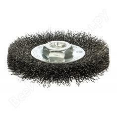 Щетка дисковая цилиндрическая с гофрированной стальной проволокой мастер 072 (115 мм; м14) профоснастка 20107002