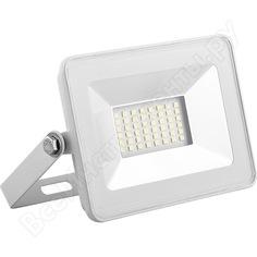 Светодиодный прожектор saffit sfl90-20 2835smd, 20w 6400k ac220v/50hz ip65, белый в компактном корпусе 55071