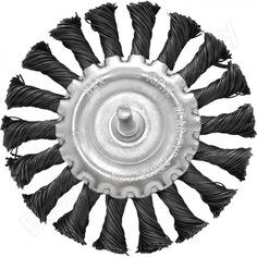 Щетка плоская, крученая металлическая проволока 75 мм для дрели 571075