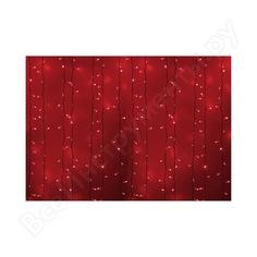 Гирлянда neon-night дождь, занавес, 2х3м, белый пвх, 760 led красные 235-132