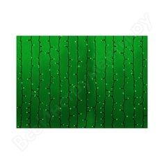 Гирлянда neon-night дождь, занавес, 2х1.5м, черный пвх, 360 led зеленые 235-124