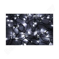 Гирлянда neon-night твинкл 10м, черный пвх, 100 led белые/мульти 303-155