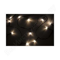 Гирлянда neon-night твинкл 6м, темно-зеленый пвх, 40 led тепло-белые 303-026