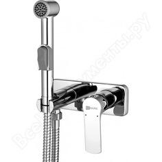 Встраиваемый смеситель с гигиеническим душем lemark plus grace lm1519c