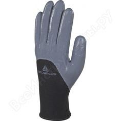 Трикотажные перчатки с нитриловым покрытием delta plus ve715gr р. 7 ve715gr07