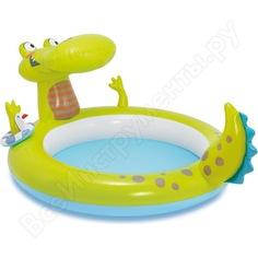 Игровой центр с бассейном intex 198х160х91 см крокодил, 170 л 57431