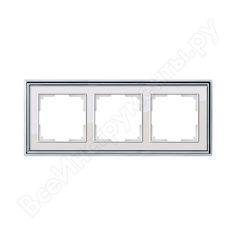 Рамка werkel wl17-frame-03 на 3 поста хром белый a037694