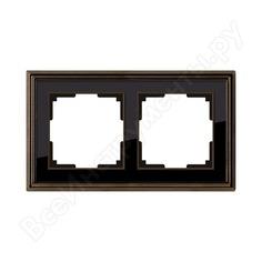 Рамка werkel wl17-frame-02 на 2 поста бронза черный a037688
