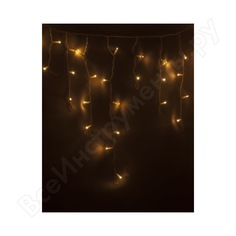 Гирлянда neon-night айсикл (бахрома) 2.4 х 0.6 м, белый пвх, 88 led тепло-белые 255-037