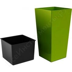 Кашпо для цветов 91,5л оливковый 2 предмета prosperplast urbi square durs400-370u