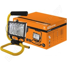 Прожектор галогенный черный tdm ио500п sq0302-0014