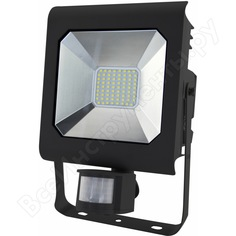 Светодиодный прожектор эра lpr-50-4000к-м-sen smd pro б0028664