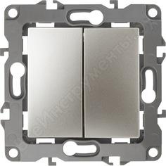 Двойной выключатель эра 12-1104-04 10ах-250в, ip20, шампань б0014648